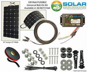100 Watt Flexable Solar Panel Kit  U2014 Solar Ev Systems