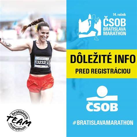 registraciu na  rocnik csob bratislava marathon