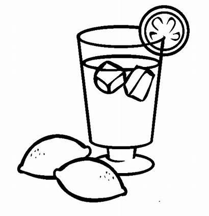 Coloring Drinks Pages Printable Lemonade