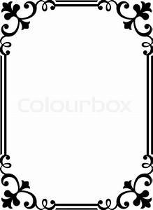 Bilder Mit Rahmen Modern : kalligraphie kalligraphie geschweiften barocken rahmen schwarz vektorgrafik colourbox ~ Bigdaddyawards.com Haus und Dekorationen