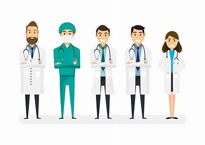 Doctors Background Vector Characters Medical Doctor Isolated