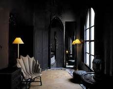 Black Color House Unusual Interior Black On Black Moroccan Design Panda 39 S House