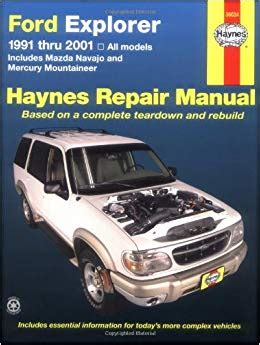 automotive repair manual 1989 ford ranger regenerative braking ford explorer 91 2001 incl mazda navajo mercury mountaineer haynes automotive repair manual