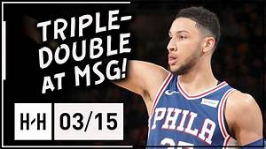 Ben Simmons Triple-Double Full Highlights vs Knicks (2018 ...