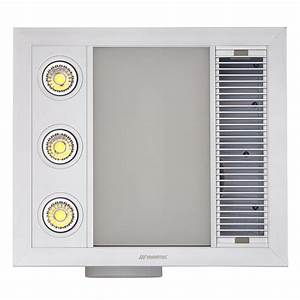 Linear Mini 3 In 1 Bathroom Heater With Exhaust Fan And
