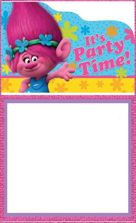 printable trolls invitation templates invitations