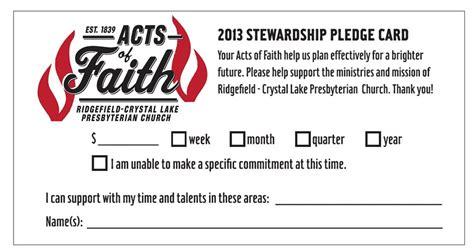 pin church pledge card template pdfcastnet  pinterest
