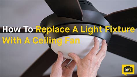 can i add a light to a ceiling fan how to replace a light fixture with a ceiling fan youtube