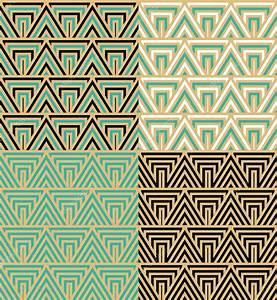 Papier Peint Art Deco : art deco motif de papier peint sans soudure decorativ ~ Dailycaller-alerts.com Idées de Décoration