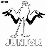 Storks Coloring Pages sketch template
