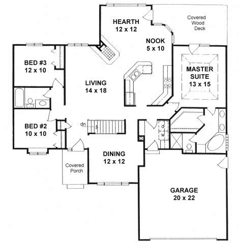 Floor Plans With Hearth Room by Plan 1620 3 Bedroom Ranch W Hearth Room Formal Dining
