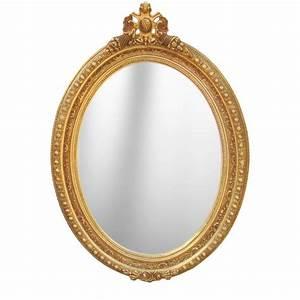 Miroir Style Baroque : grand miroir baroque ovale de style louis xvi ~ Teatrodelosmanantiales.com Idées de Décoration