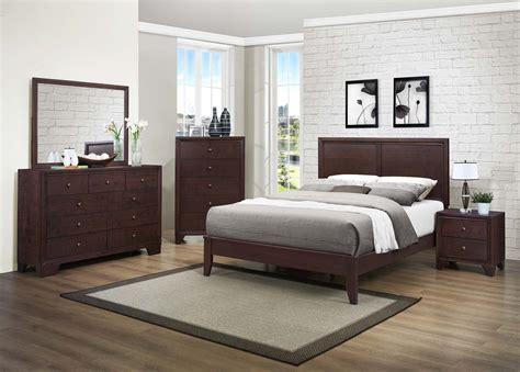 homelegance kari bedroom set warm brown cherry  bed