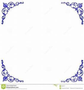Decorative Blue Corners Background Stock Vector - Image ...