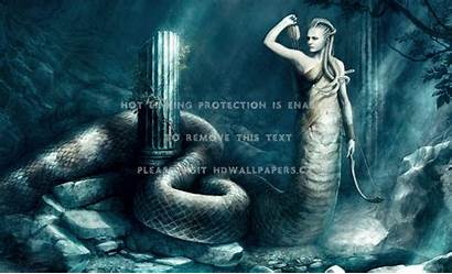 Medusa Greek Mythology Background Wallpapers Fantasy Snake