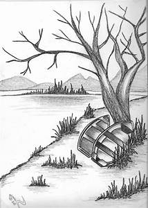 Simple Sketch Scenery Pics Pencil Drawing Of Natural ...