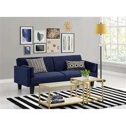 Wayfair Sectional Sofa Bed by Ameriwood Metro Microfiber Convertible Sofa In Navy Blue