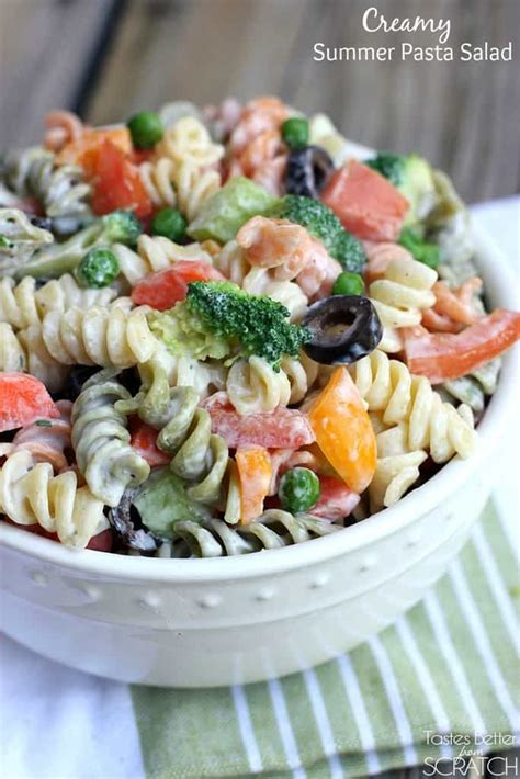 summer pasta salad recipe creamy summer pasta salad tastes better from scratch