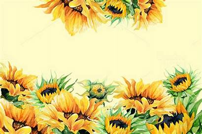Sunflowers Watercolor Clipart Sunflower Clip Background Illustration