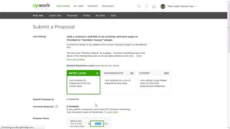bid rate how to place bid on upwork hourly rate
