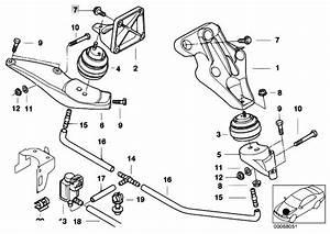 Original Parts For E38 725tds M51 Sedan    Engine And Transmission Suspension   Engine Suspension