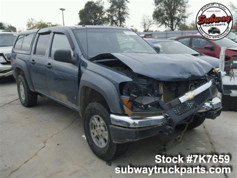 Chevrolet Colorado Parts by Used Parts 2007 Chevrolet Colorado Z71 3 7l 4x4 Subway