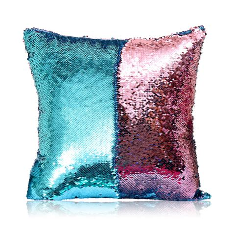 in stock mermaid sequins pillow cover magic diy inverted