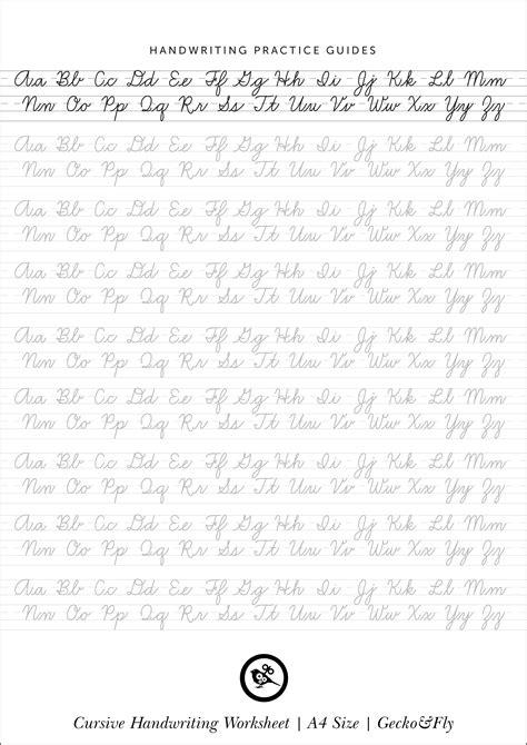 free printable cursive worksheets 5 printable cursive handwriting worksheets for beautiful penmanship