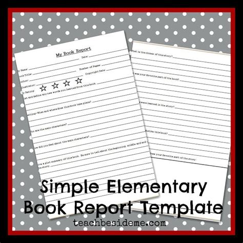 Book Reports Elementary by Elementary Level Book Report Template Homeschooling