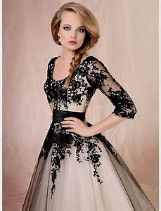 black wedding dresses with sleeves Naf Dresses