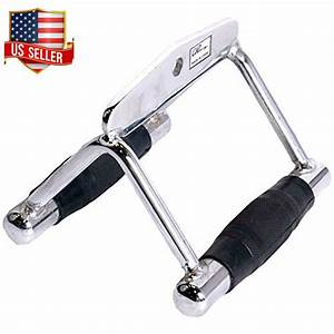 Lat Pulldown Attachments Close Grip Row Handle Workout Rubber Grips Cable T Bar