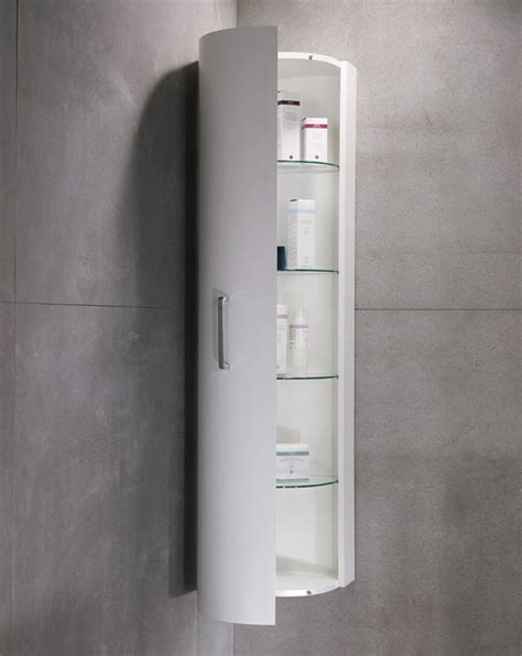 corner bathroom medicine cabinet with tall design and