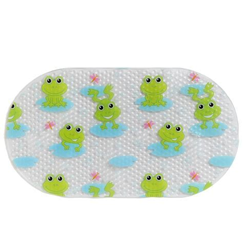 Character Printed Bath Mat Frog Bathroom Accessories B&M