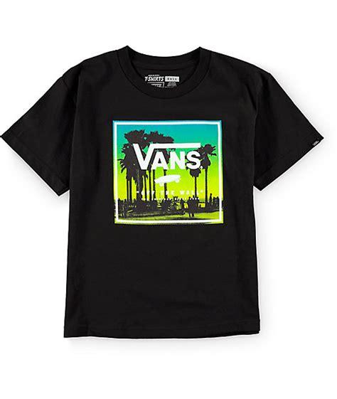 vans boys palms boxed black  shirt