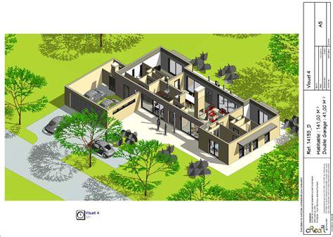 plan maison en l plain pied 3 chambres maison contemporaine plain pied plan 140m2 maison moderne
