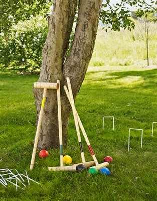 Backyard Croquet by The Domestic Curator Petanque Badminton Croquet Oh My
