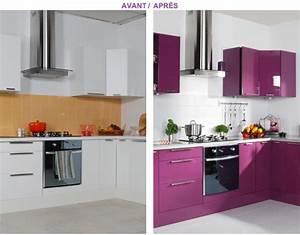 Relooker Meuble Cuisine : relooker ses meubles de cuisine peu de frais deco cool ~ Mglfilm.com Idées de Décoration