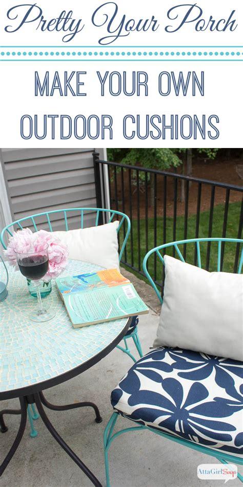 porch makeover progress diy outdoor chair cushions atta