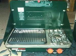 coleman stove grill combo espotted