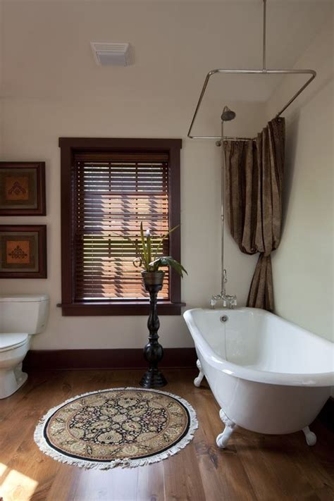 freestanding claw foot tub and shower combination with