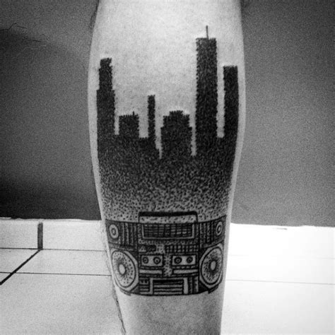 boombox tattoo designs  men retro ink ideas