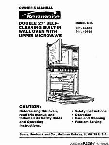 Kenmore 91149485890 User Manual Built In Oven W  Microwave