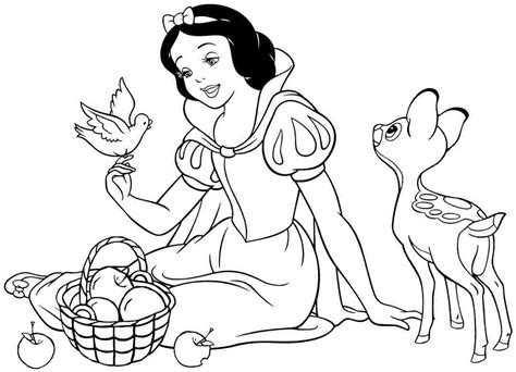 snow white coloring pages    print