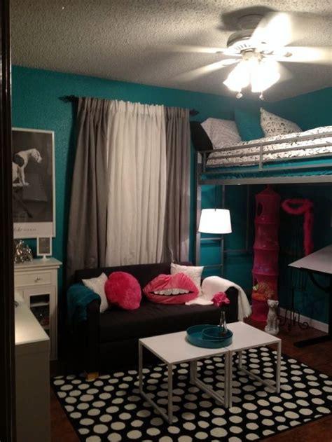 41239 bedroom ideas for teal and pink teen room tween room bedroom idea loft bed black and