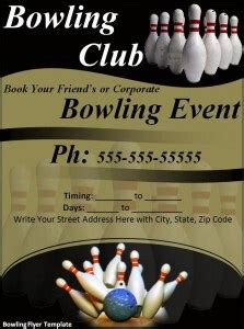 bowling flyer template excel  formats