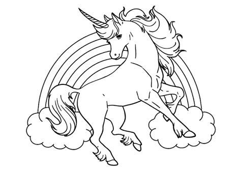 immagini di unicorni kawaii da colorare disegni da colorare degli unicorni con arcobaleno