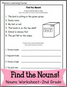 noun printable worksheets find the nouns worksheet for 2nd grade mamas learning corner