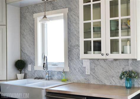 a marble panel backsplash for our diy kitchen the diy