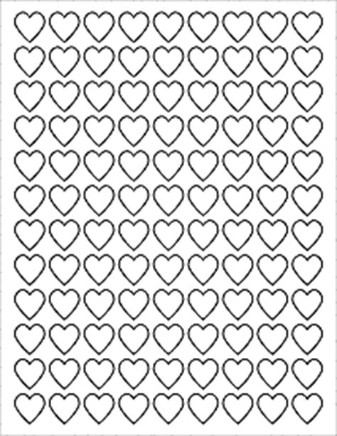 label templates ol    heart