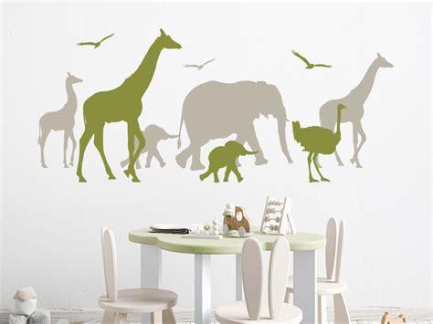 Wandtattoo Kinderzimmer Safari wandtattoo safari afrika wandtattoo de